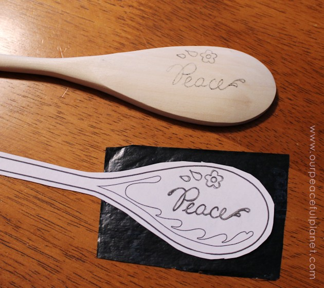 Add positive energy into your food by cooking with spoons that have words on them. Easy to make, they are not only beautiful they are a great gift!