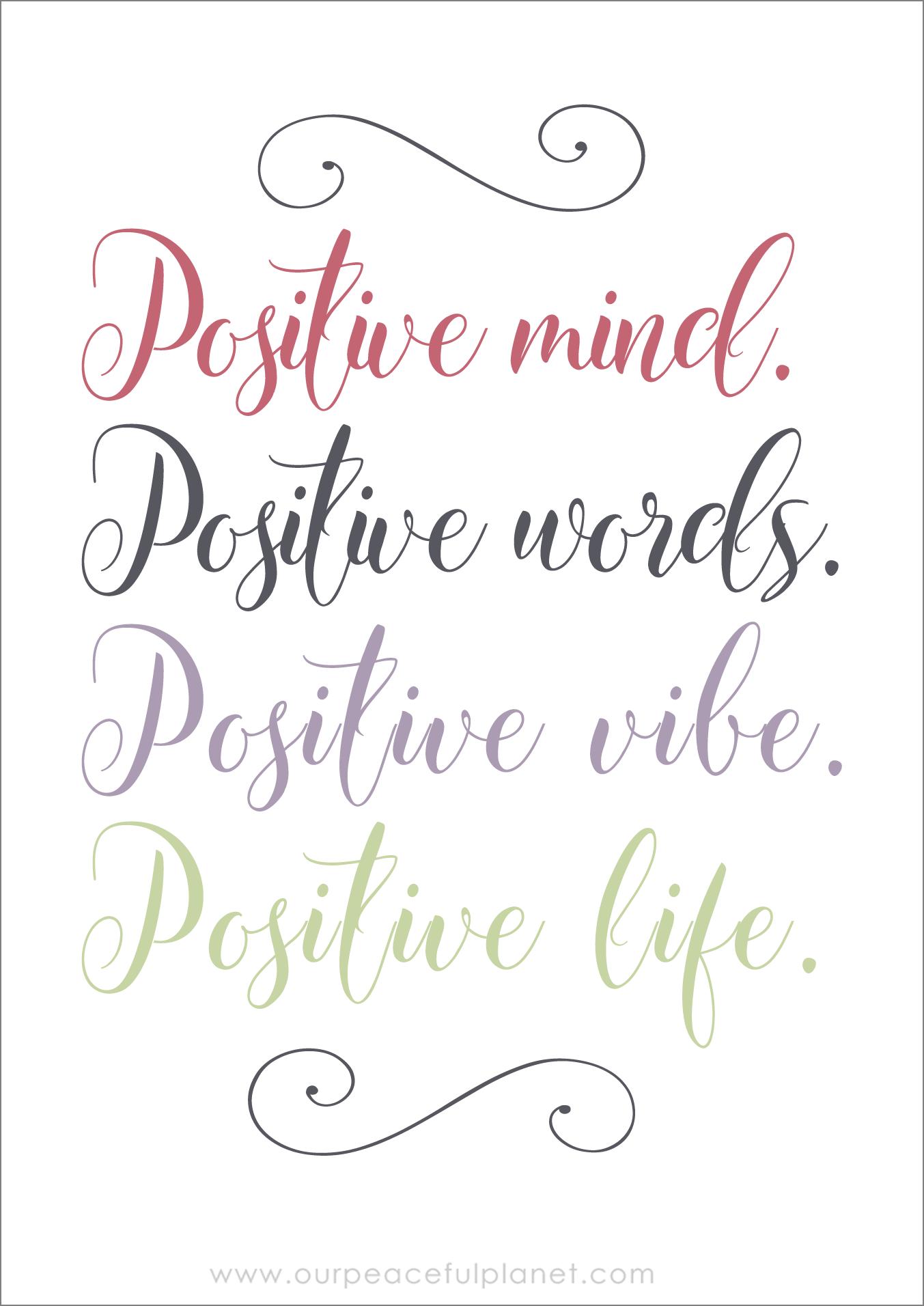 Positive Mind Positive Words Positive Vibe Positive Life