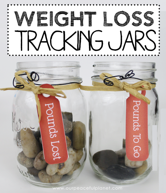 Make these fun weight loss tracker jars to give you a great visual to your progress! We've got six different styles you can make using a variety of items!