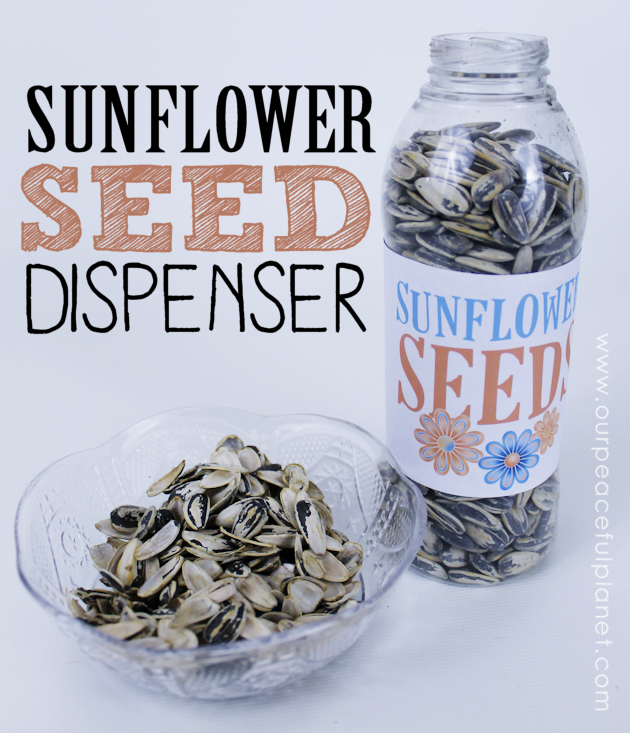 Make this fun human sunflower seed dispenser with an attached shell holder! Snack, toss the shells in the trash, screw the top back on. Genius!
