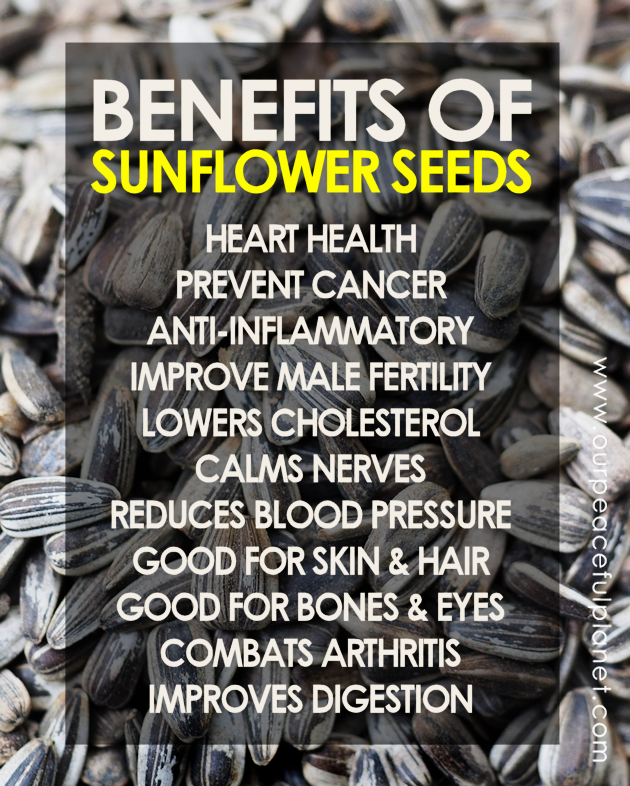 The benefits of sunflower seeds.