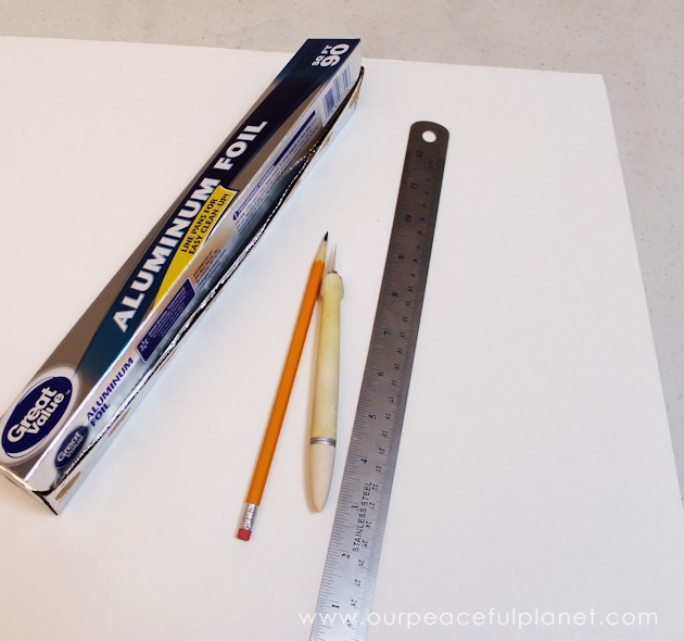 This simple DIY Steampunk dry erase board is perfect for keeping track up upcoming events or reminders. All you need is foil, foam board and metal parts!