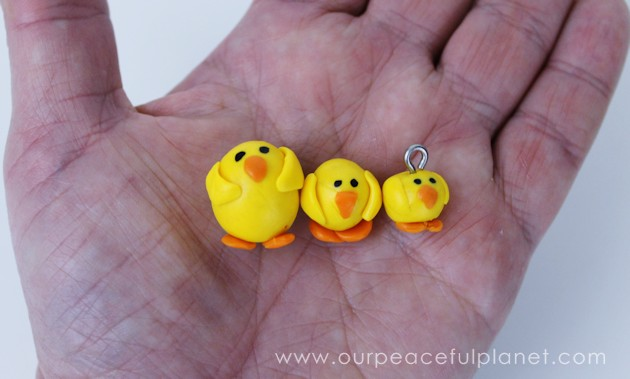 Easy Clay Chick Necklace Easter Gift FE