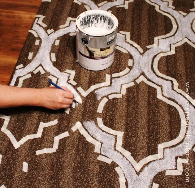 How To Stencil & Paint Carpet