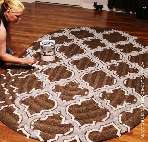 How To Stencil & Paint Carpet