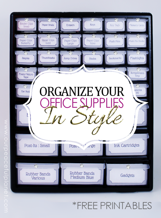 Organize Office Supplies In Style With A Parts Chest