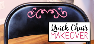 Quick Folding Chair Makeover