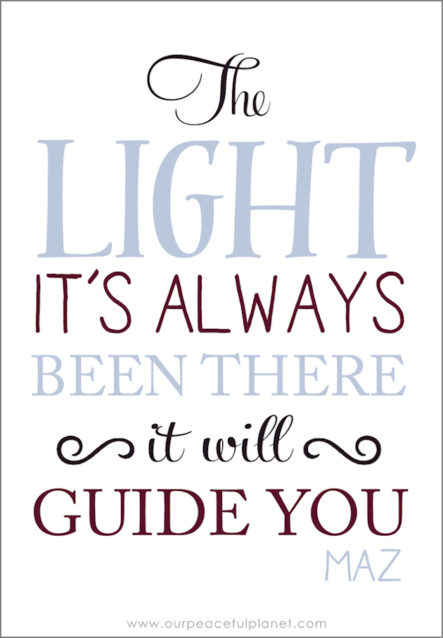 The LIght It's Always Been There. It Will Guide You
