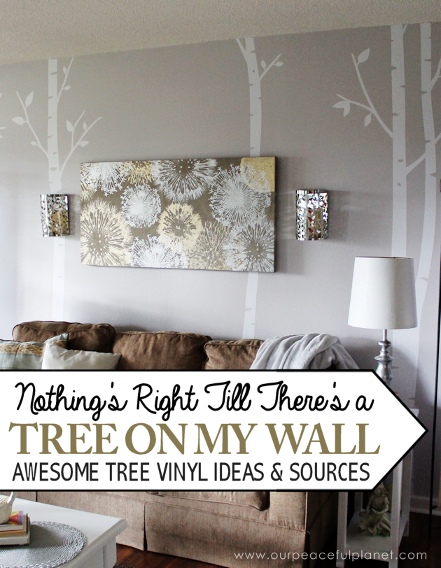 Tree decals are a unique way to decorate! So if you're a tree hugger try taking it one step further and bring them into your home and onto your walls.