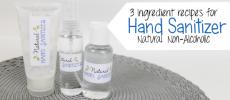 Natural DIY Hand Sanitizer (3 Ingredients No Alcohol)