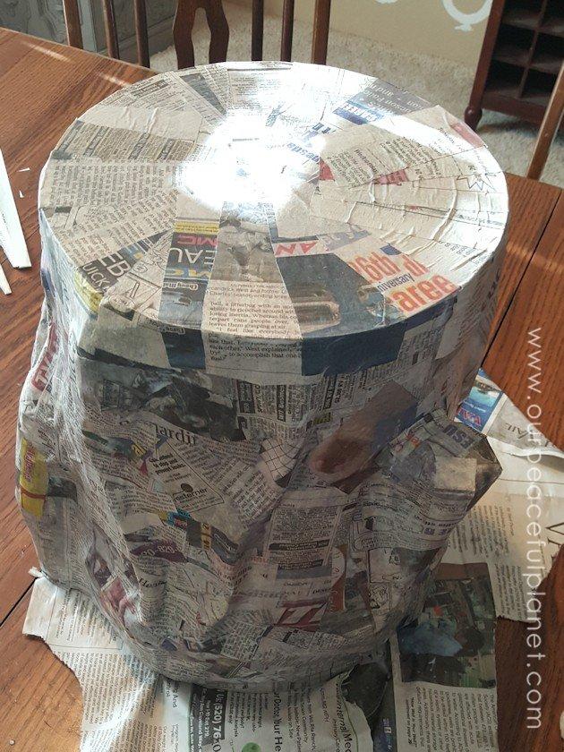 Paper mache tree trunk