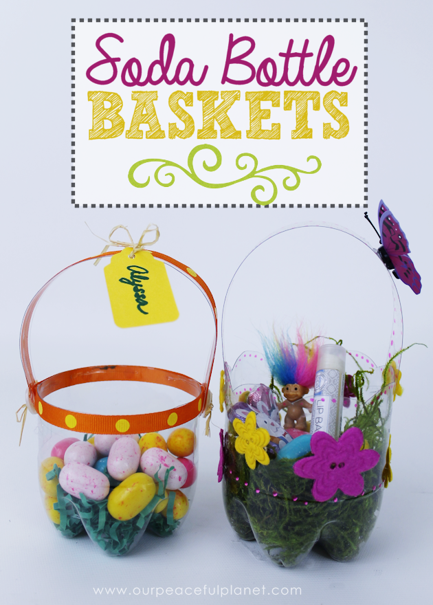 Plastic bottle diy easter baskets pretty little custom diy easter baskets you can make in minutes using a plastic soda bottle blank630x20 negle