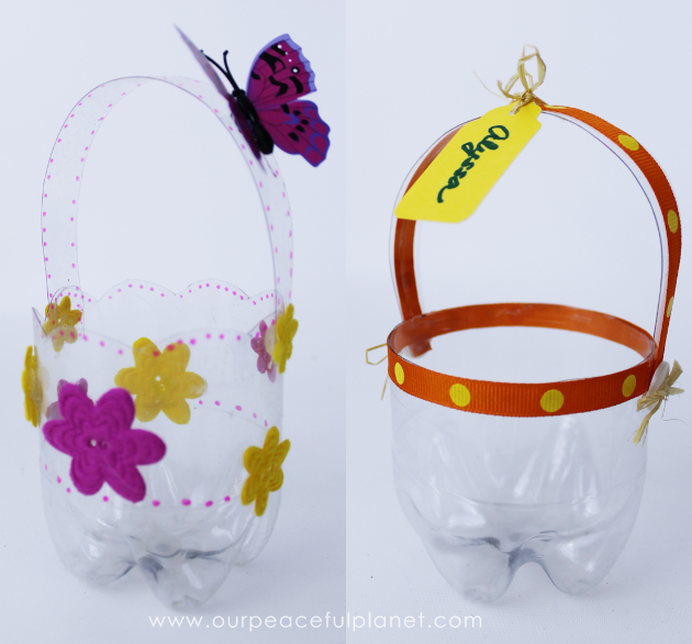 Plastic bottle diy easter baskets pretty little custom diy easter baskets you can make in minutes using a plastic soda bottle negle Images