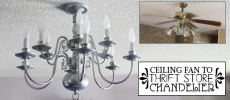 Chandelier Makeover and Flush Mounting