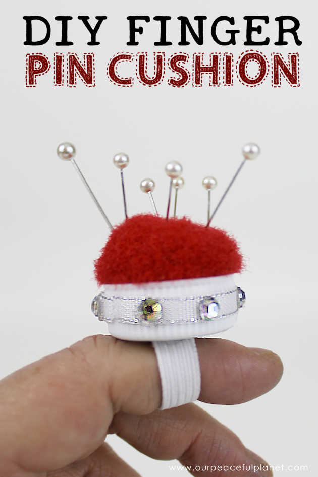 This tiny 10 minute pin cushion is a huge help for anyone who sews. Made using a lid from a plastic bottles you can make it any color or style you want!