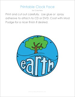 DIY World Clock for Earth Day from CD DVD Download