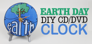Make this awesome world clock for Earth Day or any day! It's made form a CD or DVD and we have free printable original artwork you can download.