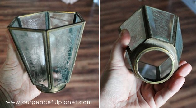 This beautiful illuminated upcycled decor light was made from the covers on an old ceiling fan. Learn to look past what something is to what it can become.