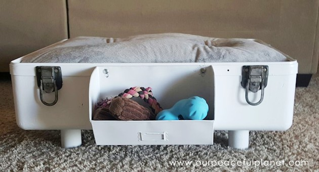 DIY Dog Bed from Suitcase 36