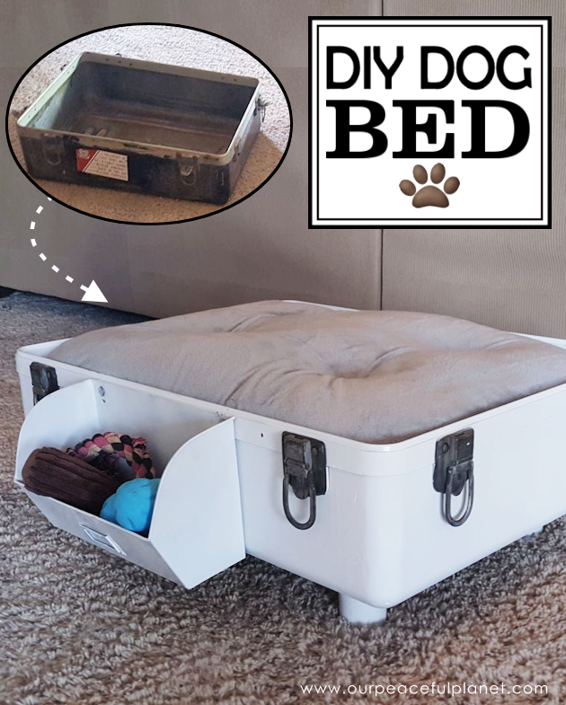 Diy Dog Bed Part - 30: A Suitcase Makes The Best DIY Dog Bed! You Can Style It However You Like ...