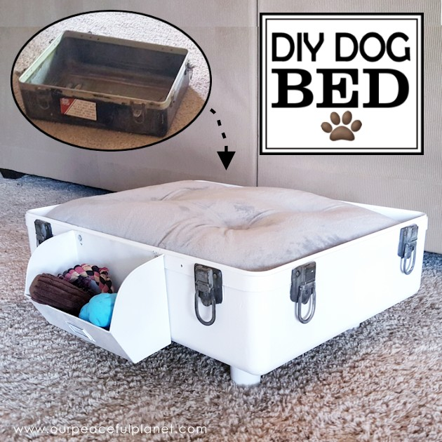 DIY Dog Bed from Suitcase SQ