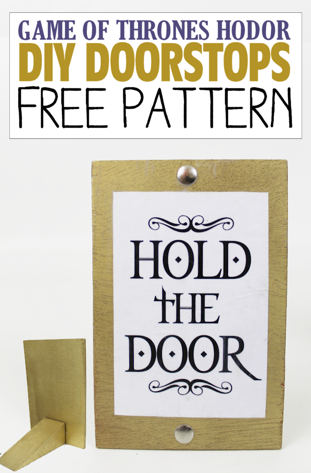 A quick and appropriate doorstop with free printables that you can make to honor this man whose huge size was only appareled by his huge heart.