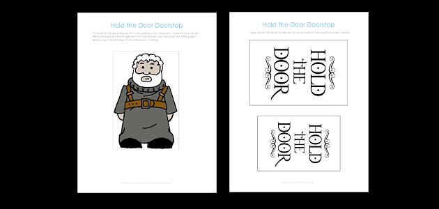 Game Of Thrones Hodor Hold The Door Doorstops Amp Free