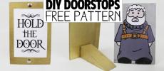 Hold the Door Doorstops & Free Printables