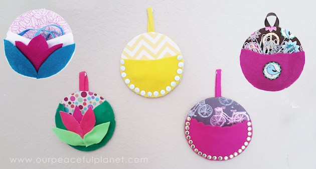 Recycle CDs and DVDs into these useful and pretty wall pouches! They're also a great way to use up scraps of fabric and have a multitude of fun uses.