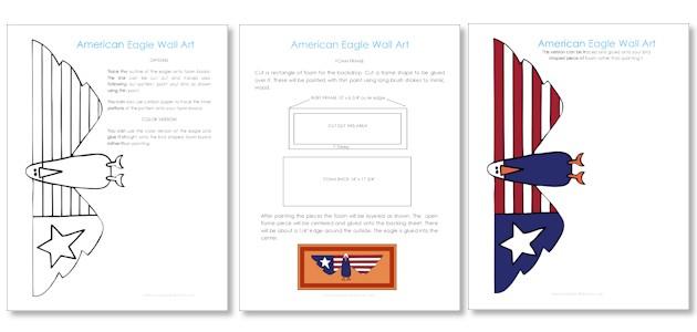 American Eagle Art From Foam Board Download