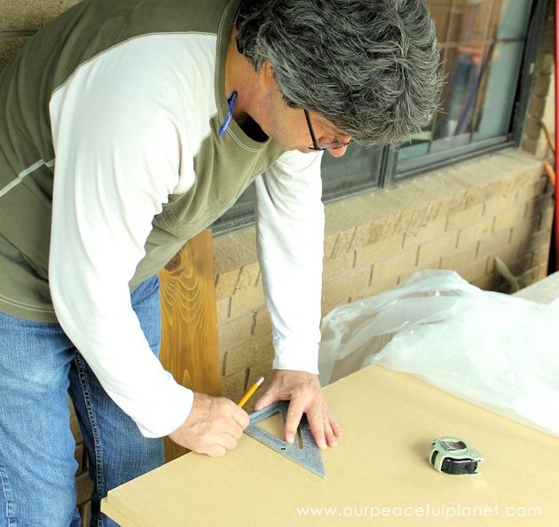 """Build a large surface home office desk from inexpensive 3/4"""" MDF wood. Using items you might already have, no legs are needed. It's easier than you think!"""