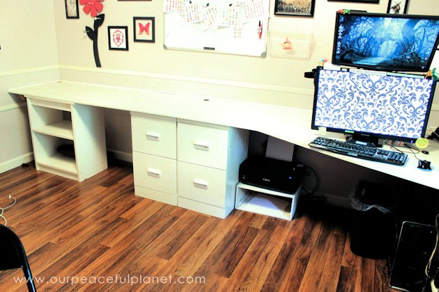 simple home office desk. Build A Large Surface Home Office Desk From Inexpensive 3/4\ Simple