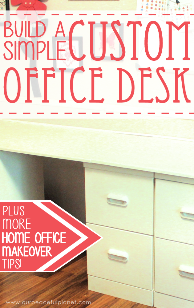 "Build a large surface home office desk from inexpensive 3/4"" MDF wood. Using items you might already have, no legs are needed. It's easier than you think!"