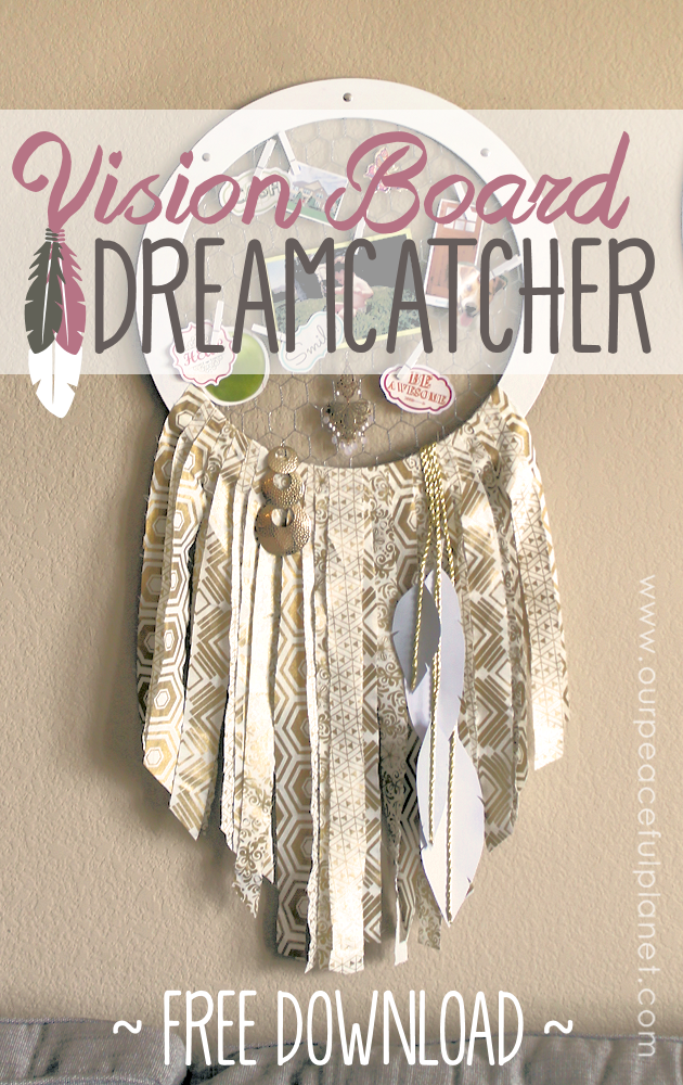 This isn't your typical dream catcher. It's a place where you literally place your dreams aspirations. Think of a dream catcher vision board combined!