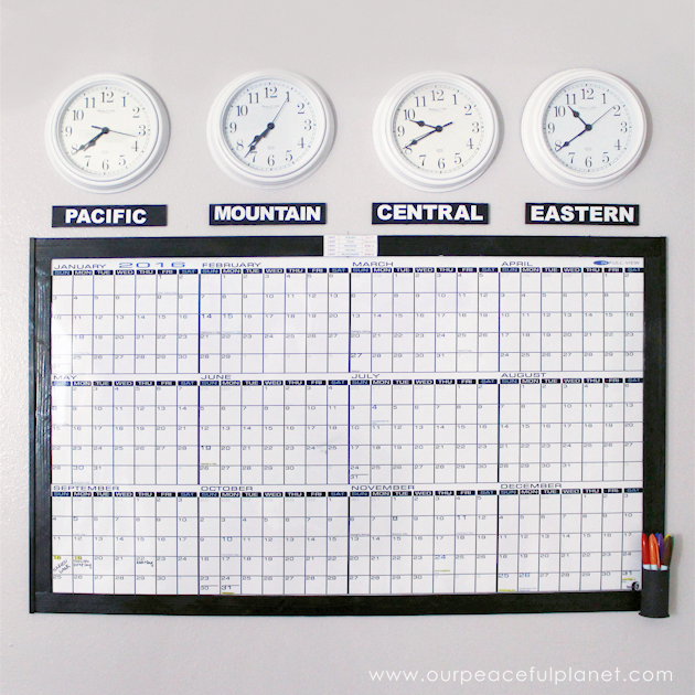 Calendar Time Zone Planner : Time zones whiteboard calendar free printable