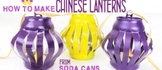 How to Make Chinese Lanterns from Soda Cans