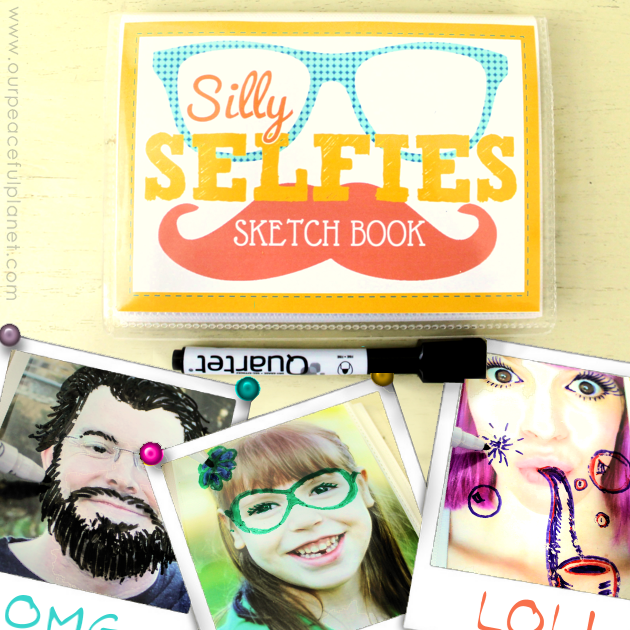 Make a Silly Selfie quiet book in 15 minutes using our FREE DOWNLOAD! An amazingly simple project guaranteed to provide hours of fun for kids of all ages!