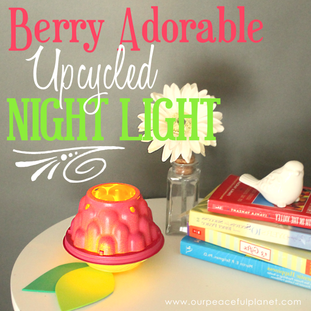 "Check out this ""Berry"" Amazing and Easy DIY Room Decor Light made from a small plastic cherub tomato container. A brilliant upcycle project for all ages!"