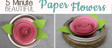 How to Make Beautiful DIY Paper Flowers in 5 Minutes!