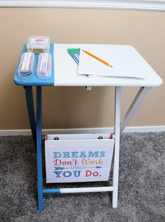 portable homework table