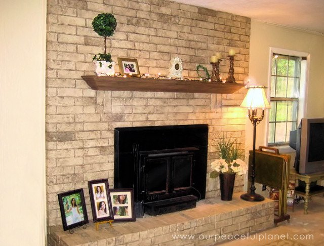 Easy and inexpensive fireplace makeover 2