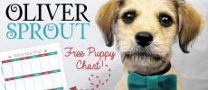 Oliver Sprout & Free Potty Training Puppy Chart
