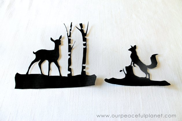 Not your typical mason jar light, these wondrous woodland silhouettes will bring a whimsical touch of nature into your home. Get your free download now!