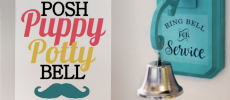 How to Potty Train a Dog to Use a Bell & How to Make One!