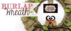 How to Make a Quick Burlap Wreath with an Embroidery Hoop