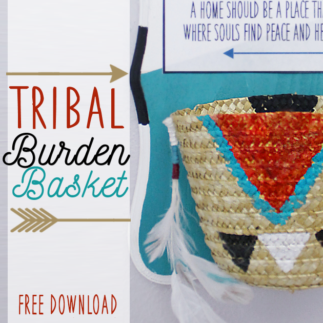 Remind family and visitors to keep negative thoughts outside your home with this beautiful poem and tribal burden basket that you hang on your front porch.