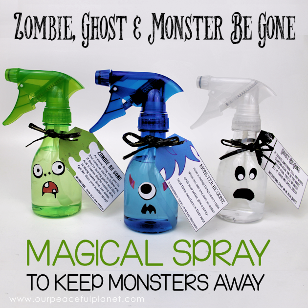 "Are you bothered by monsters, ghosts or zombies? Whip up some of our magical ""creature be gone"" sprays. We makes ghost, monster & zombie survival easy!"