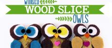 How to Make Simple Wood Slice Owl Decor