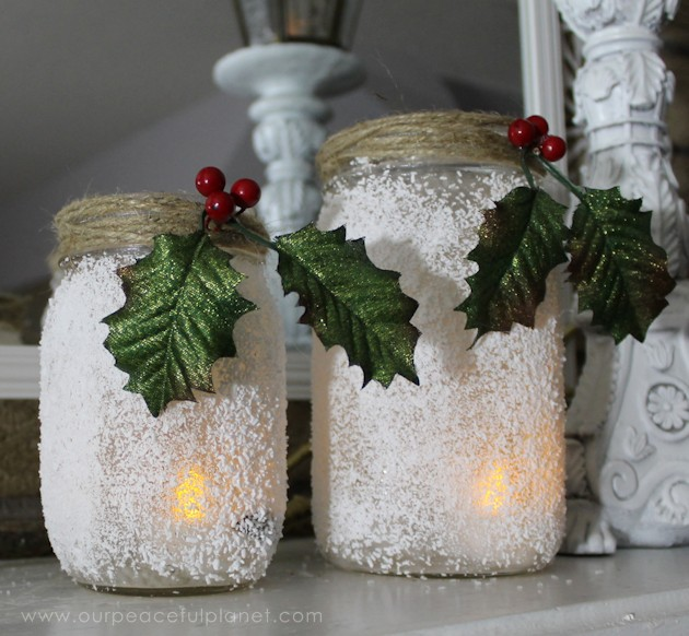 Create a gorgeous mantle using homemade Christmas decorations that cost very little if nothing to make & don't forget to download our free quote to display!