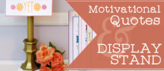 Get Inspired with 10 Free Motivational Quotes & Classy Display Stand